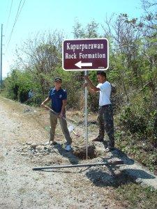 Tourist Road Sign in Burgos
