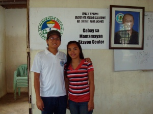 With Teacher Karen of Carusikis Elementary School